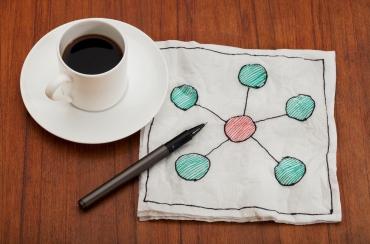 network on napkin