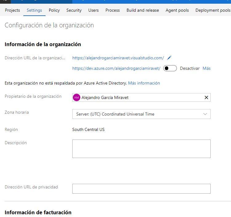 VSTS tiene sucesor y este se llama Azure DevOps_1